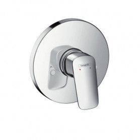 Hansgrohe Logis shower mixer, concealed decorative part, round, chrome, 71606000