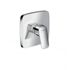 Hansgrohe Logis shower mixer, concealed decorative part, angular, chrome, 71605000