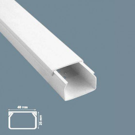 Mutlusan cable protection channel Canalex 40X16 (length 2m, price for 1m)
