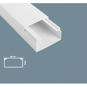 Mutlusan cable protection channel Canalex 80X40 (length 2m, price for 1m)