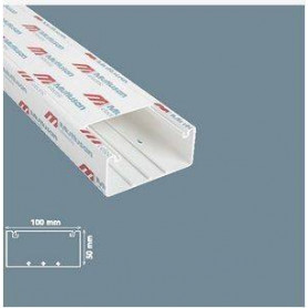 Mutlusan cable protection channel MEKS 100X50 (length 2m, price for 1m)