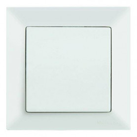 Mutlusan Candela electricity switch 1P, white