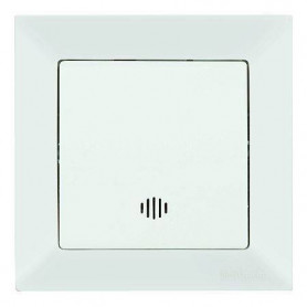 Mutlusan Candela electricity switch 1P, with lighting, white