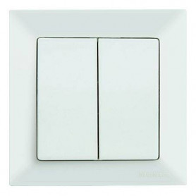 Mutlusan Candela electricity switch 2P, white