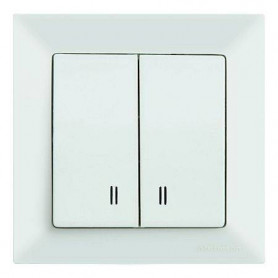 Mutlusan Candela electricity switch 2P, with lighting, white