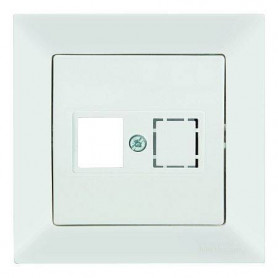 Mutlusan Candela data socket 1*RJ45, empty, white