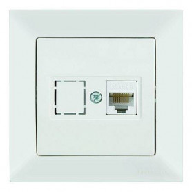 Mutlusan Candela data socket 1*RJ45, Cat5e, white