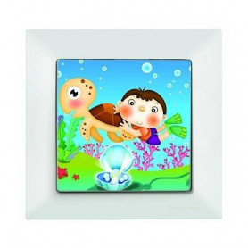 Candela Kids Caretta Beyaz electricity switch, 1pole, 2127 514 0101