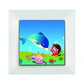 Candela Kids Dolphine Beyaz electricity switch, 1pole, 2127 518 0101