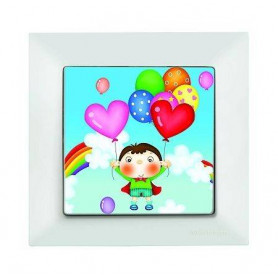 Candela Kids Love Beyaz electricity switch, 1pole, 2127 522 0101