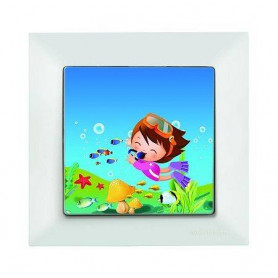 Candela Kids Diver Beyaz electricity switch, 1pole, 2127 528 0101