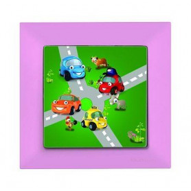 Candela Kids Traffic pembe electricity switch, 1pole, 2127 510 0111