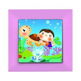andela Kids Caretta Pembe electricity switch, 1pole, 2127 514 0111