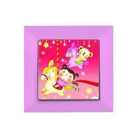 Candela Kids Carousel Pembe electricity switch, 1pole, 2127 526 0111