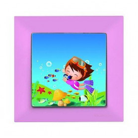 Candela Kids Diver Pembe electricity switch, 1pole, 2127 528 0111