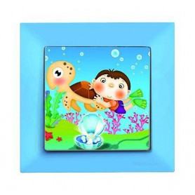 Candela Kids Caretta Mavi electricity switch, 1pole, 2127 514 0112