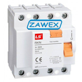 LS leakage protection switch RKN 4P 25A 30mA