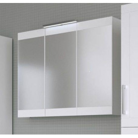 Raguvos Baldai Serena Retro bathroom mirror cabinet 90 cm without lighting, glosy white 1300611