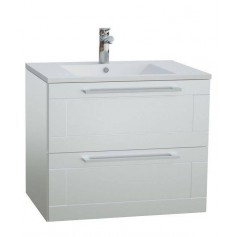 Raguvos Baldai Serena Retro bathroom vanity unit with washbasin 61.5 cm, glosy white 131133114