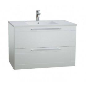 Raguvos Baldai Serena Retro bathroom vanity unit with washbasin 76 cm, glosy white 131134114