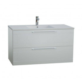 Raguvos Baldai Serena Retro bathroom vanity unit with washbasin 91.5 cm, glosy white 131136114