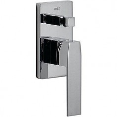 Tres Slim-Tres 20218001 shower water mixer, concealed, with diverter