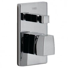 Tres Slim-Tres 20218002 shower water mixer, concealed, with diverter