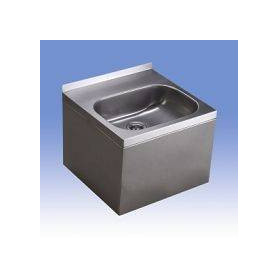 Sanela SLUN 13 covered rectangle stainless steel washbasin for public premises