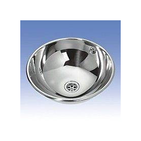 Sanela SLUN 45X build in stainless steel washbasin for public premises, matte surface