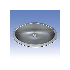 Sanela SLUN 63 oval stainless steel washbasin for public premises, build in