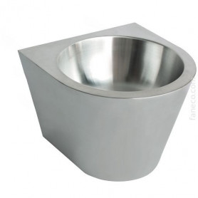 Faneco N13036C.S stainless steel washbasin for public premises