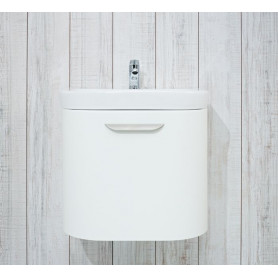 Jika Olymp Deep bathroom vanity unit 50 cm, 1 drawer, round 4.5413.1.434.500.1