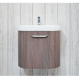 Jika Olymp Deep bathroom vanity unit 55 cm, 1 drawer, round 4.5413.2.434.341.1
