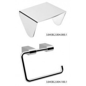 Jika Pure toilet paper holder with cover, chrome