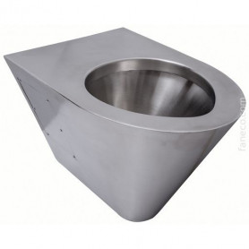 Faneco N13018 hanging stainless steel WC toilet bowl