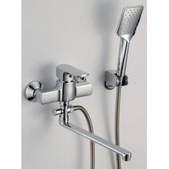 Harma Kaleva bath mixer, long spout, with shower, 8758S
