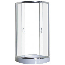 Duschy shower cabin, round 81SK25 chrome/ tinted