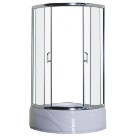 Duschy shower cabin, round 82SK00 chrome/ transparent