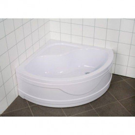 Duschy deep shower tray 82P01 90x90, round, white