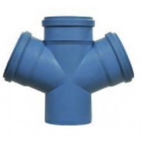 Nicoll dBlue acoustic sewage pipe double T-piece DN 110/110, 90deg