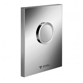 Schell urinal flusher button Edition 028012899, for concealed mechanism, stainless steel