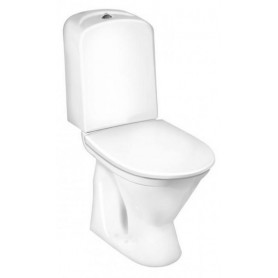 Gustavsberg Nordic3 3510 WC toilet bowl, P-trap, with standard seat GB113510301213