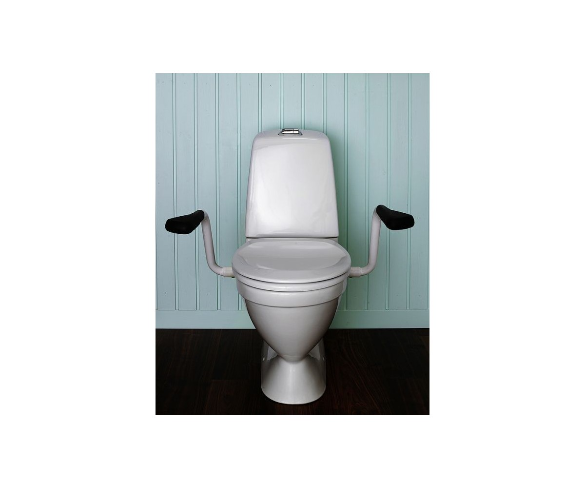 Gustavsberg 3055 WC toilet seat for disabled people, with grab bars ...