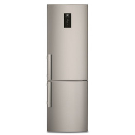 Electrolux refrigerator EN3854POX with lower freezer, 200cm, stainless steel