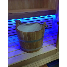 Sauna water bowl with handle 20L, oak