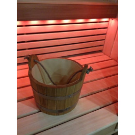 Sauna water bowl with handle 5L, oak
