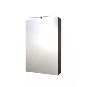 Raguvos Baldai Scandic bathroom mirror cabinet with lighting 46cm, black oak 1502101