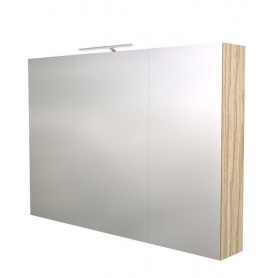 Raguvos Baldai Scandic bathroom mirror cabinet with lighting 100cm, ash tree 1502704