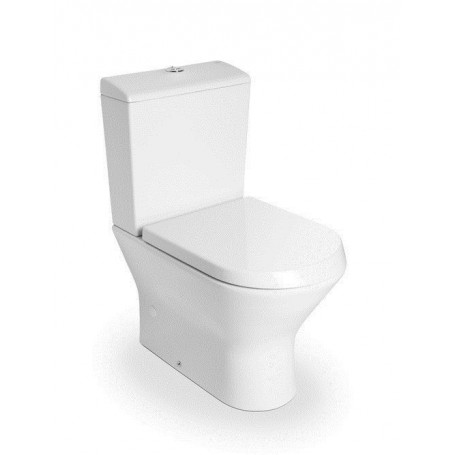 Roca Nexo Compact WC toilet bowl, with soft close seat, universal outlet, bottom water connection, white