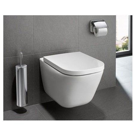 Roca the gap clean rim hanging wc toilet bowl white for Roca the gap